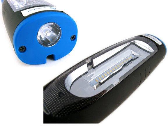 Akumulatorowa latarka warsztatowa, lampa inspekcyjna M-TECH IL94 diody OSRAM, mocne magnesy