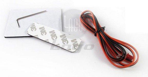 Bezprzewodowe, regulowane czujniki parkowania w ramce tablicy rejestracyjnej z wyświetlaczem LED CPB75LED