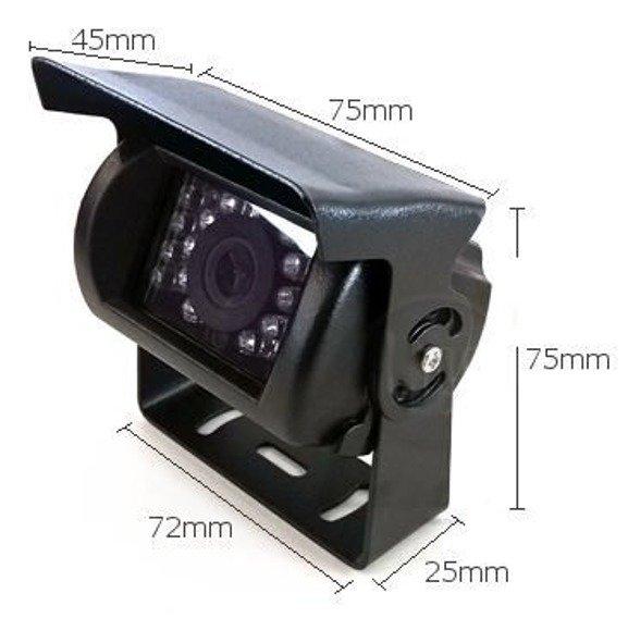 Kamera cofania CAM9 120 TIR BUS 12V 24V 120 stopni, solidna mocna obudowa 18 diod IR