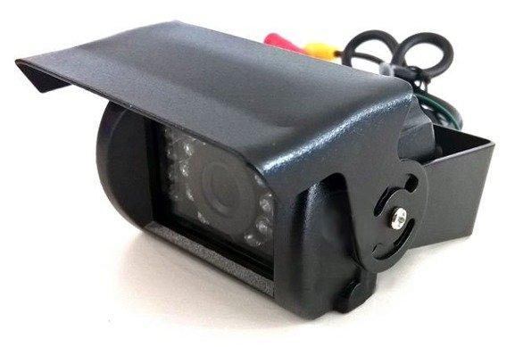 """Kamera parkowania cofania 140 stopni + duży czytelny wyświetlacz 7"""" TIR BUS KOPARKA 12V 24V"""