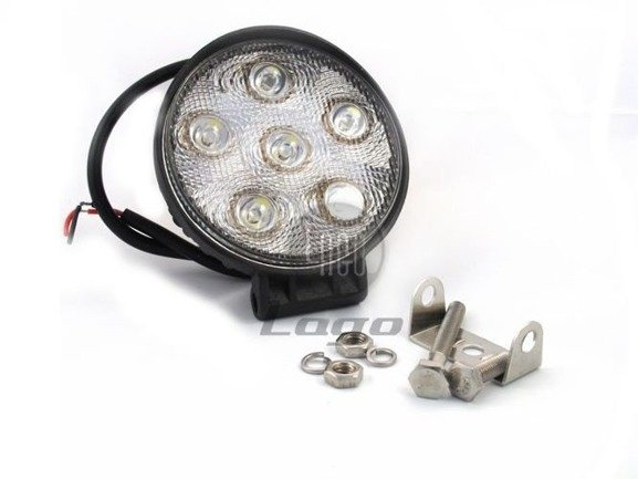 Okrągła lampa robocza, szperacz LED, 18W